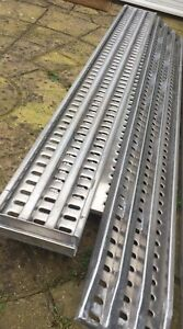 Aluminum ramps 3 meters Loading Car Transporter Recovery Trailer Delivery All UK
