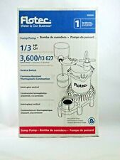 NEW Flotec Submersible Thermoplastic Sump Pump 1/3 HP #FPZS33V