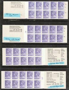 QEII 1982 Decimal £1.55 Booklets x 4 Women's Costumes FR1a, FR4a, FR4b Cylinders