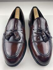 HANOVER Shell Cordovan Tassel Slip On Loafer Brown 2505 Shoe 9.5 C A Narrow