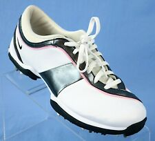 Euc Nike White/Grey/Pink Golf Shoes Womens Size Us 8.5 335940-101