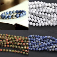 Semi Precious Crystal Round Gemstone Beads 4/6/8/10/12mm Jewelry Findings Making