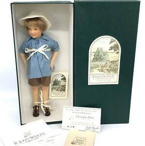 R John Wright Pocket Pooh Series Christopher Robin Doll LE3500 Felt 1998 11in