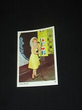 HEIDI BRÜHL  CARTE CARD BUBBLE GUM LEAF ?? 1960 ?  N° 76  ARTISTES