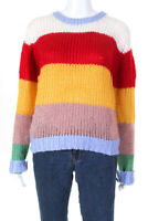 ENGLISH FACTORY Womens Multicolor Knit Sweater Multi Colored Size Medium