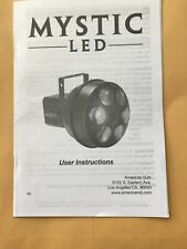 American Dj MYSTIC LED User Instructions Booklet