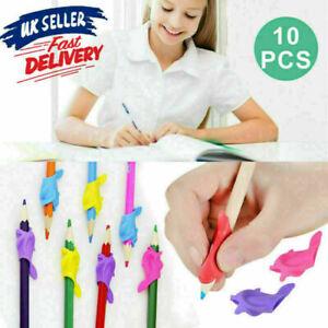 10pc Pen Posture Holder Correction Aid Pencil Grip Kids Children Hand Writing