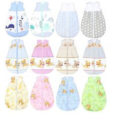 Baby Schlafsack ohne Ärmel Kinder Schlafsack Baumwolle Ganzjahres Babyschlafsack