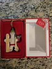 Lenox 2016 Gingerbread Christmas Ornament Downhill Delight Mib