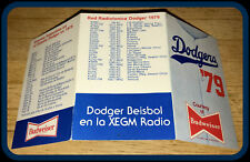 1979 LOS ANGELES DODGERS BUDWEISER BASEBALL POCKET SCHEDULE FREE SHIPPING