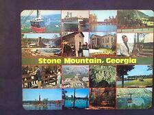Vintage SOUVENIR Of STONE MOUNTAIN, GEORGIA  / Photos Of Interest  Hot Pad MAT