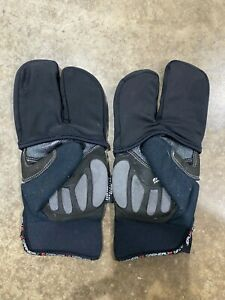Louis Garneau Vulcano Lobster Winter Cycling Gloves Men's S/womens M Black