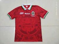 1998 Mexico Red Away Retro Soccer Jersey