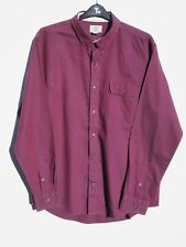 "Fantastic TIMBERLAND Men's Burgundy Cotton Long Sleeve Shirt size XXL / Fit 48"""