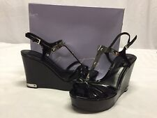 Marc Fisher Hannah Women's Wedge Sandals, Black Size 10 M