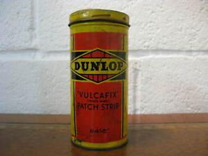 Vintage Dunlop Vulcafix Patch Strip Tin