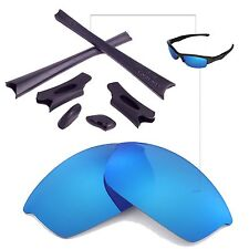 WL Ice Blue Replacement Lenses And Black Rubber Kit For Oakley Flak Jacket