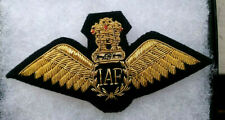 "INDIAN AIR FORCE PILOT'S DRESS WINGS, ELEGANTLY MADE, PADDED, ""BULLION."""