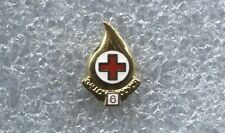 RED CROSS BLOOD DONOR 6 GALLON  PIN