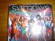 THE SATURDAYS - NOTORIOUS - LIMITED EDITION SIGNED UK CD SINGLE NEW!