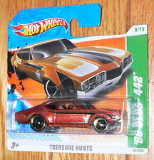 2010 Hot Wheels '68 Olds 442 #58/244 Treasure Hunt short card