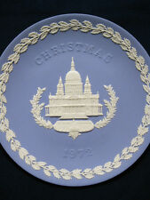 Vintage Wedgwood Jasperware Christmas Plate 1972 Of St Paul'S Cathedral