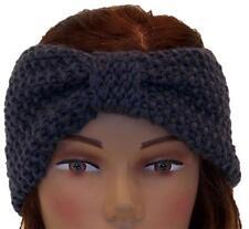 Best Winter Hats Adult Crochet Bow Knot Headband/Ear Warmer #483 Gray