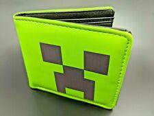 Minecraft Creeper Kids Gamer Wallet Green Cardholder - NEW