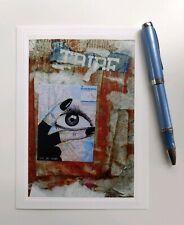 Street Graffiti w/ Eye👀😍 Blank Greeting Card w/ Envelope, Seller is Artist