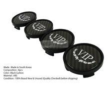 VIP Stylish Black Carbon Wheel Center Hub Caps Cover Emblem Badge 4P for KIA