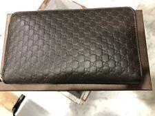 Gucci Guccisima Micro GG Lg. Leather Zip Around Travel Wallet Clutch Purse $695