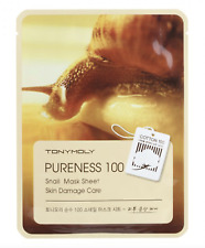 Tonymoly Tony Moly Pureness 100 Snail Mask 4 Sheets +1 sample US seller