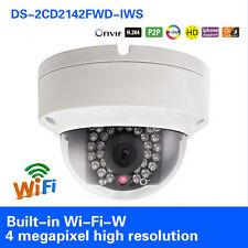 Hikvision DS-2CD2142FWD-IWS 4MP WIFI HD PoE WDR IR Dome Network Camera