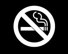 No Smoking symbol vinyl sticker decal