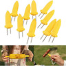 10x Safe BBQ Kitchen Corn on the Cob Holders Skewers Prong Fork Picks Novelty