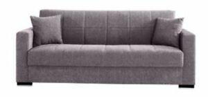divano prontoletto letto Nora 3 posti grigio arredo casa cm 210x80x90 h