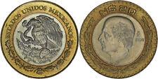 Mexico: 20 Nuevos Pesos bi-metallic 1994 - UNC