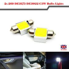2Pcs 31mm 269 DE3175 DE3022 C5W SMD LED Bulbs Car Interior Light Lamp 6W White