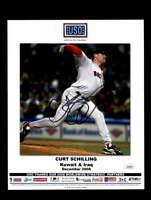 Curt Schilling JSA Coa Signed 8x10 USO Photo Autograph