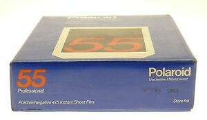 POLAROID POSITIVE NEGATIVE 4X5 INSTANT SHEET FILM BLACK WHITE X20 SEALED EXP1998