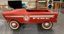 Vintage Original Fire Chief Metal Pedal Car 1960's Collectible