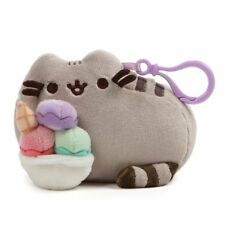 Gund NEW * Sundae Pusheen Clip * Cat Snackable Clip-On Backpack Plush Key Chain