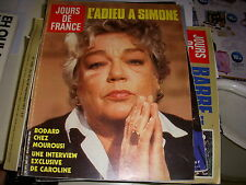 JOURS de FRANCE 1605 10.1985 SIMONE SIGNORET PICASSO CAROLE BOUQUET CELLIER