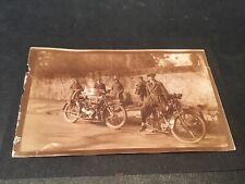 VERUS BLACKBURNE British Motorcycle Pair Original Photo 1919 Bike RARE