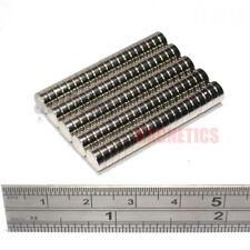 100 Imanes 6x2 mm N52 Imán de neodimio disco pequeño fuerte Craft 6mm diámetro x 2mm
