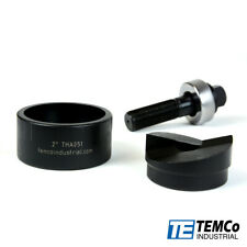 Temco Th0396 2 Conduit Hole Size Knockout Punch Unit With Manual Draw Stud
