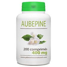 Aubépine 400 mg - 200 comprimés - Planète au Naturel