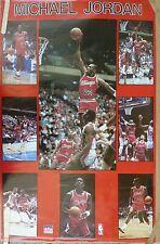 RARE MICHAEL JORDAN BULLS 1987 VINTAGE ORIGINAL NBA STARLINE POSTER