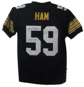 Jack Ham Autographed Pittsburgh Steelers XL Black Jersey HOF JSA 18888