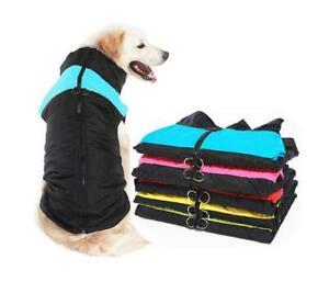 Winter Pet Dog Clothes Warm Big Dog Coat Clothing Waterproof Pet Vest Jacket